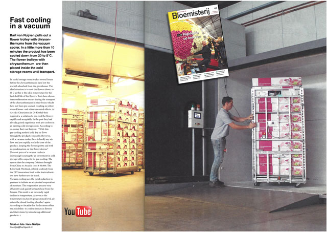 Vacuum Cooling Flowers trade magasin